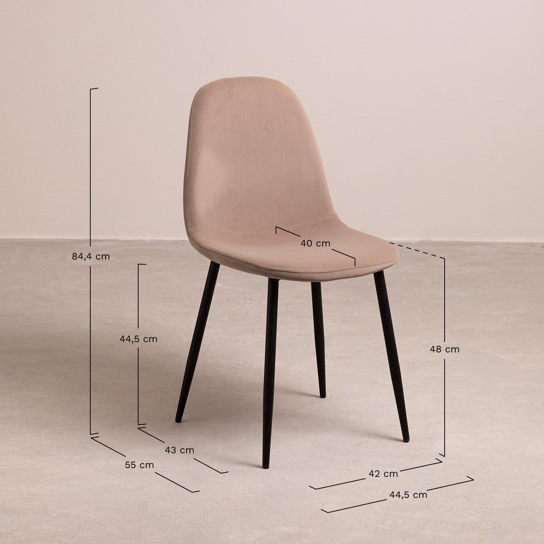silla polipiel crema y madera