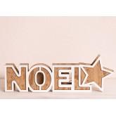 Letrero con Luces Led en Madera Noel