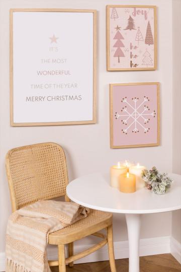 Set de 3 Láminas Decorativas de Navidad Belene
