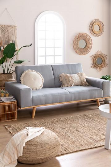 Sofa Cama de 3 Plazas en Lino Hesson