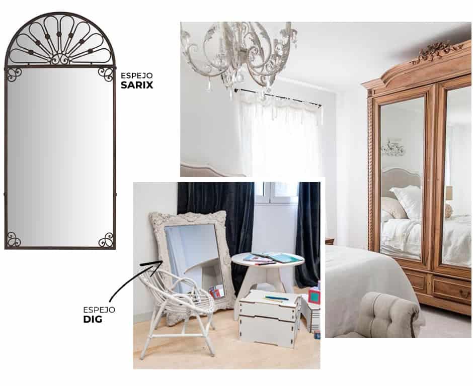 decoracion con espejos del dormitorio