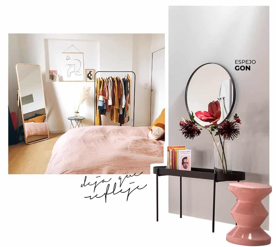 decora con espejos tu dormitorio