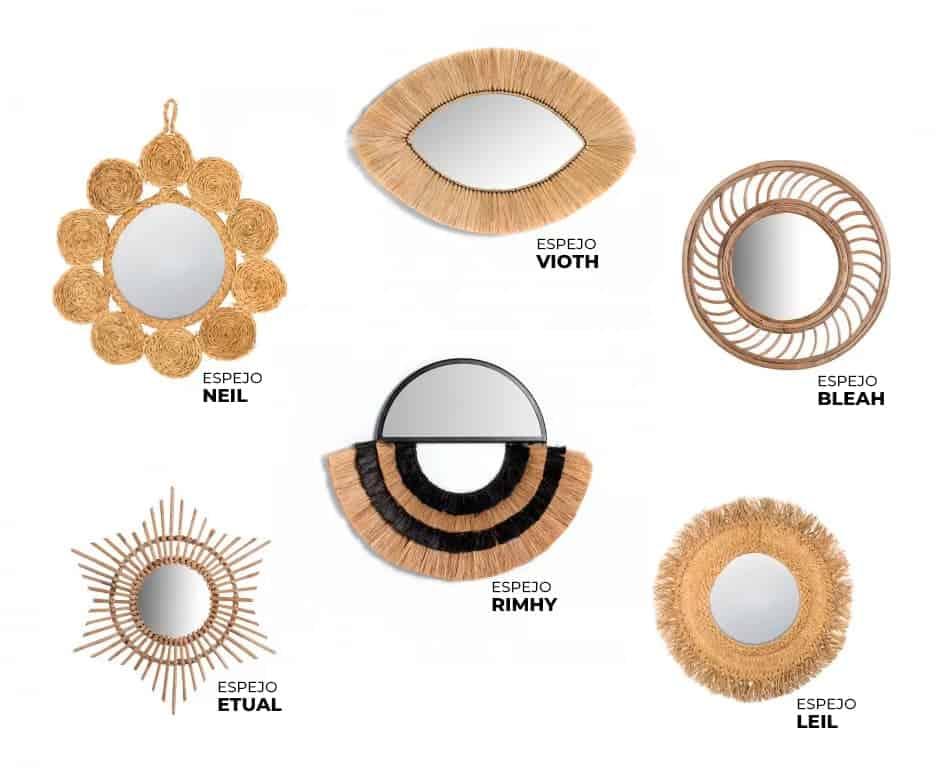 catalogo de espejos decorativos de Sklum