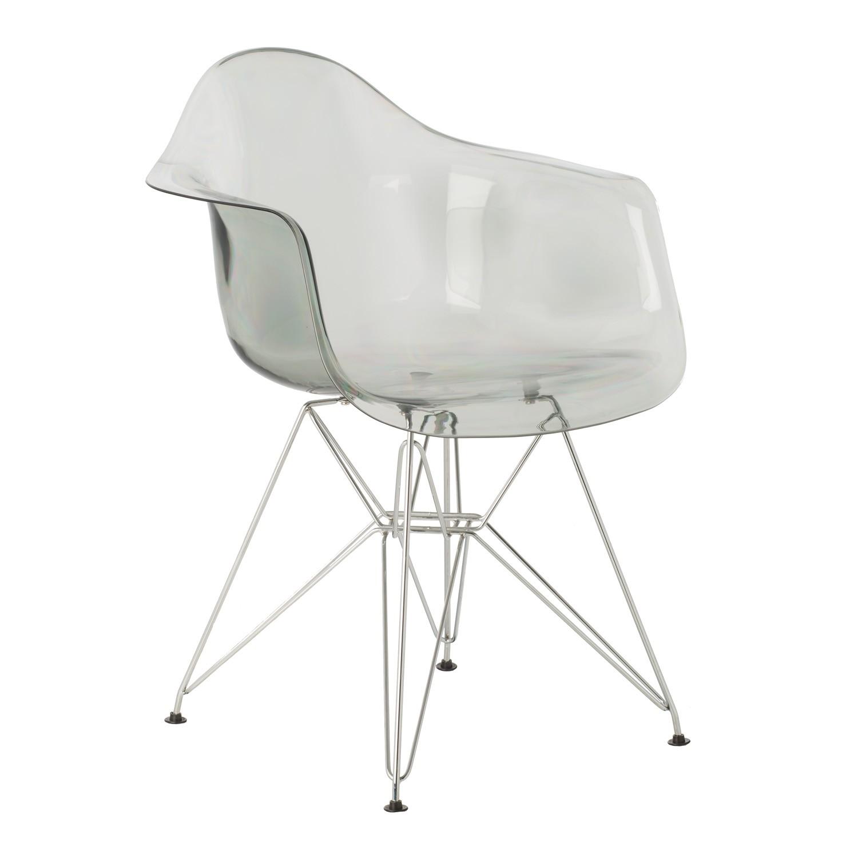 chaise avec accoudoirs ims m tal transparente sklum france. Black Bedroom Furniture Sets. Home Design Ideas