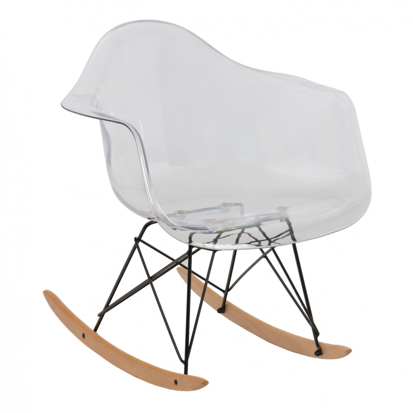 Chaise bascule ims transparente sklum france for Chaise a bascule design