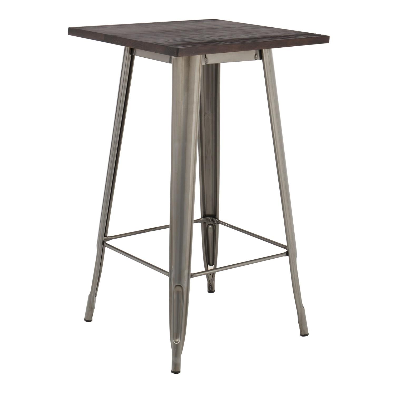 table haute lix bross e en bois sklum france. Black Bedroom Furniture Sets. Home Design Ideas