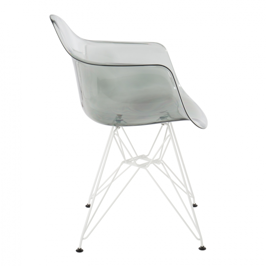 Chaise avec accoudoirs ims m tal transparente sklum france - Chaise transparente avec accoudoir ...