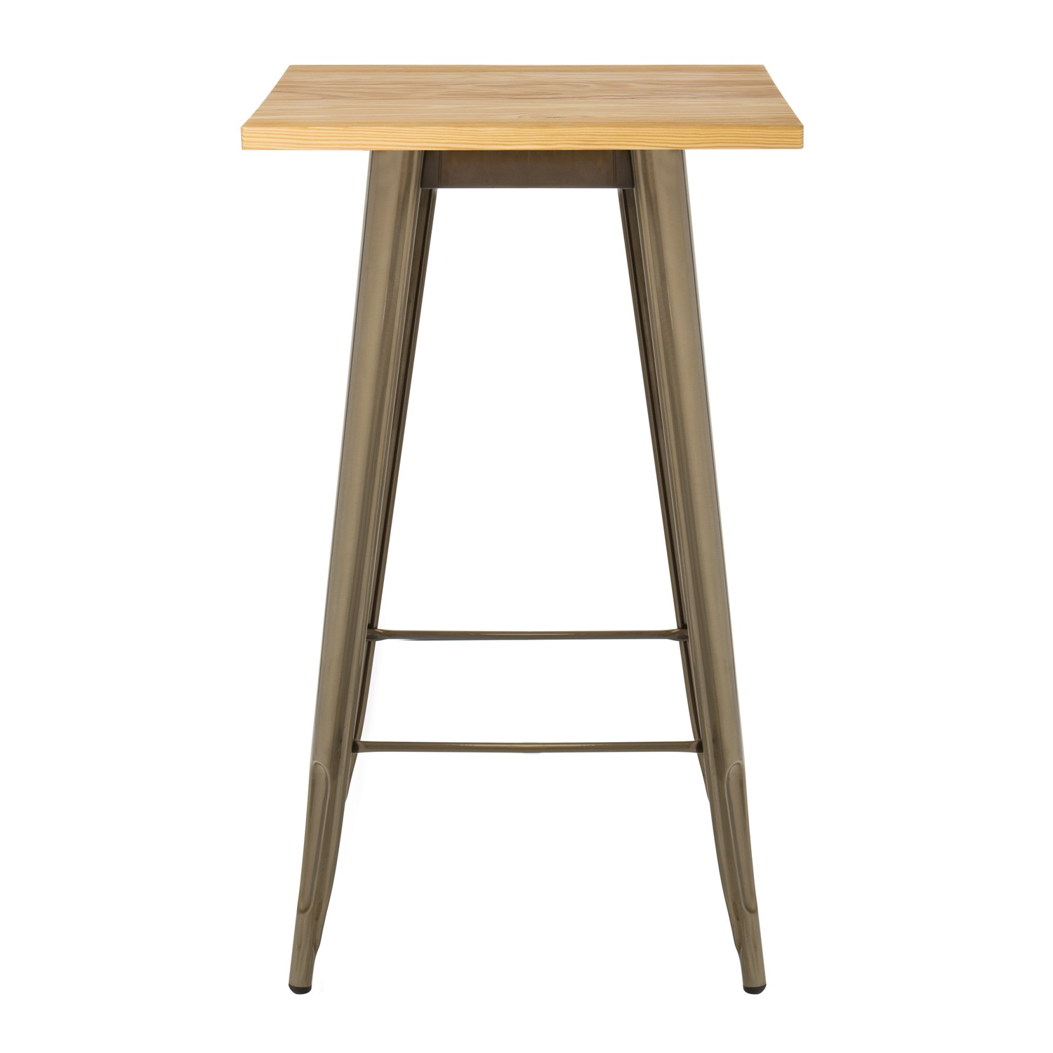 Table haute lix bross e en bois sklum france - Table haute en bois ...