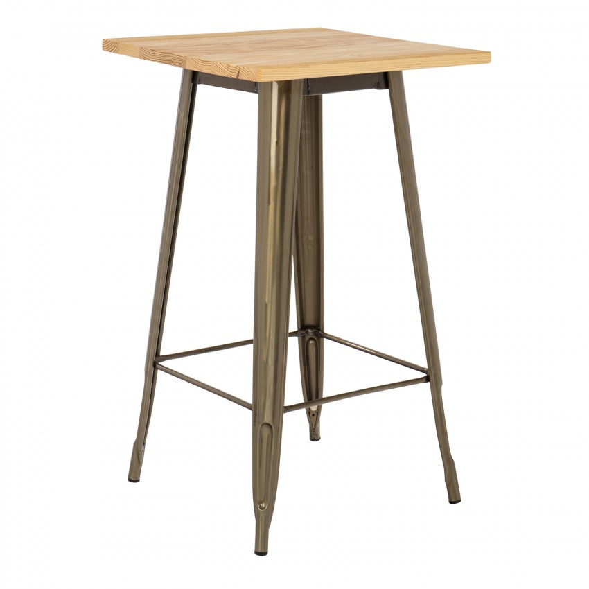 Table haute lix bross e en bois sklum france - Table haute originale ...