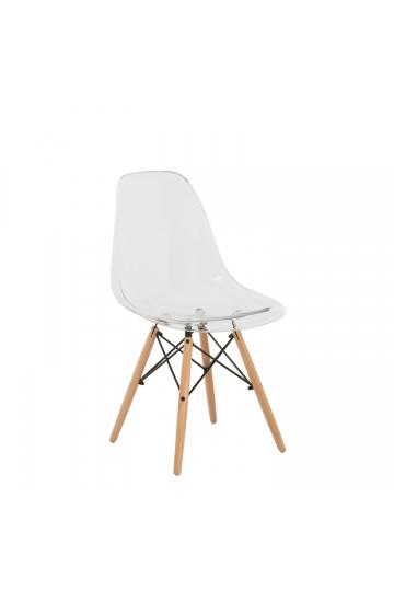 Transparent Brich Scand Chair