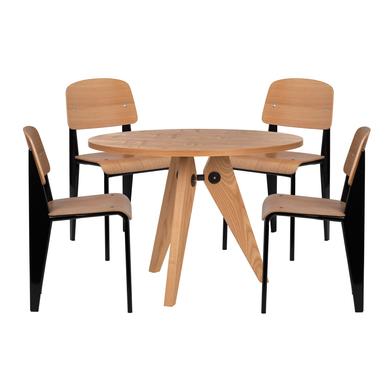 Pack Of 4 And Chairs 1 And Wooden Table Sklum