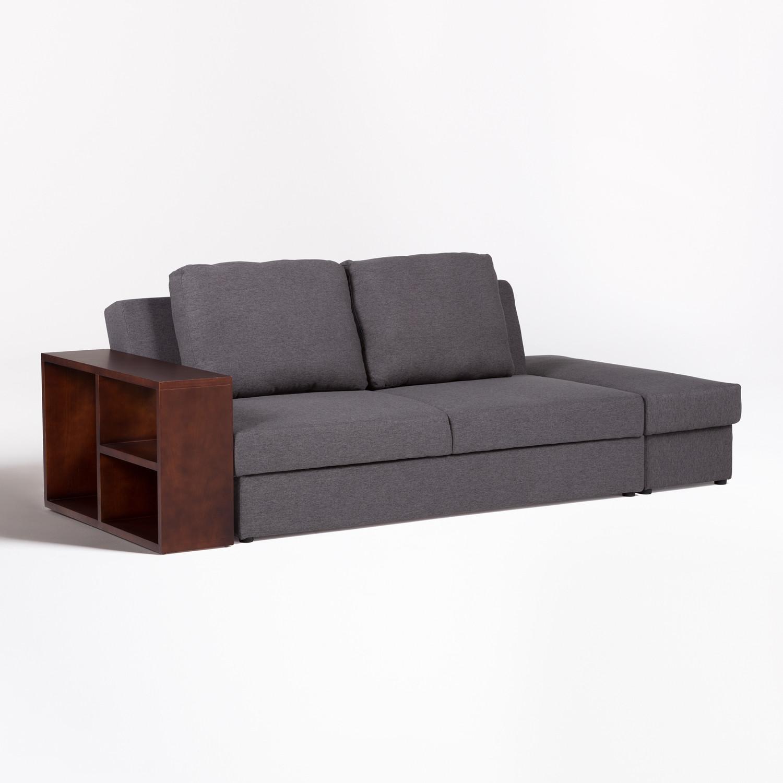 Kauri Linen 2 Seater Modular Sofa Bed   SKLUM