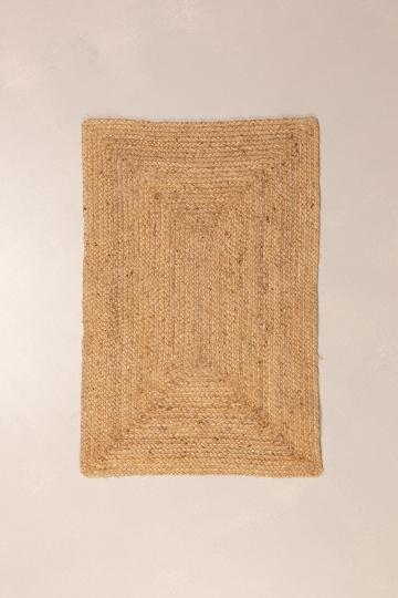 Braided doormat in Jute Natural Airo
