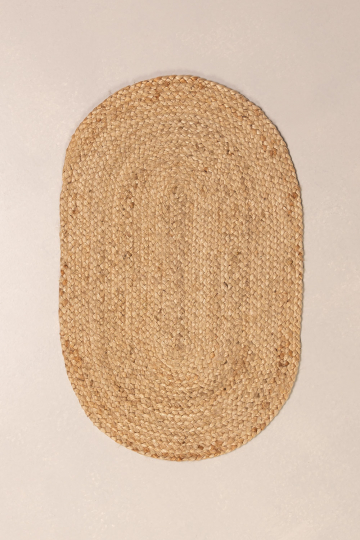 Braided Doormat in Natural Jute Oval Jamis