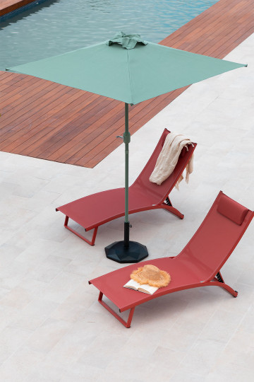 Olek Steel and Fabric Parasol