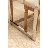 Mesa de Comedor Rectangular en Cristal y Acero Inoxidable de 200 cm Ubal