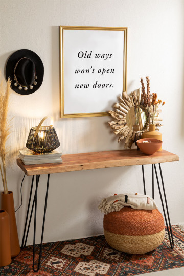 Pek Recycled Wood Console