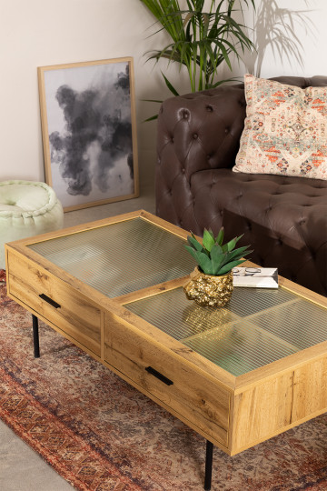 Coffee Table in MDF and Ipek Glass