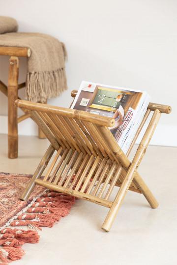 Magazine Rack in Bamboo Lulú