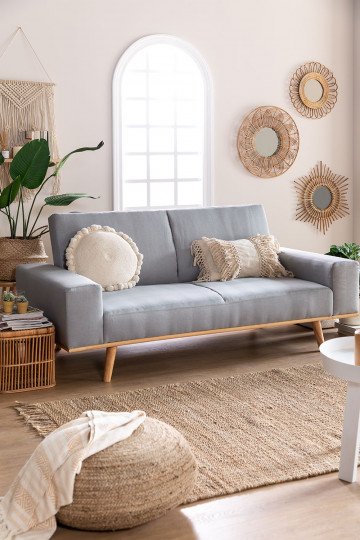 3-Seater Linen  Sofa Bed Hesson