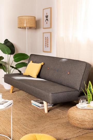 3 Seater Linen & Fabric Sofa Bed  Orbun Colors