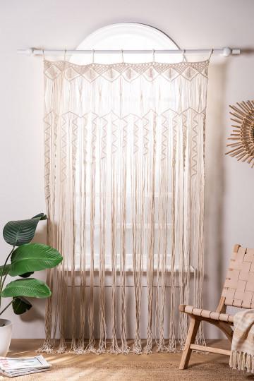 Macramé curtain (215x110 cm) Zulema