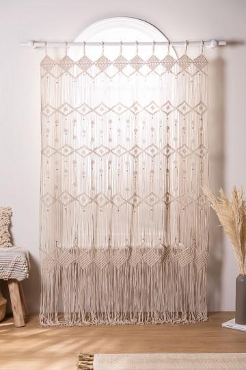 Macrame curtain (215x110 cm) Luana