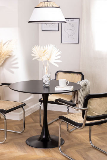 Round Dining Table in MDF and Metal (Ø90 cm) Tuhl