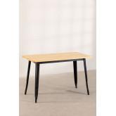 LIX Vintage houten tafel (120x60), miniatuur afbeelding 2