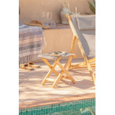 Dalma Colors opvouwbare houten kruk, miniatuur afbeelding 1