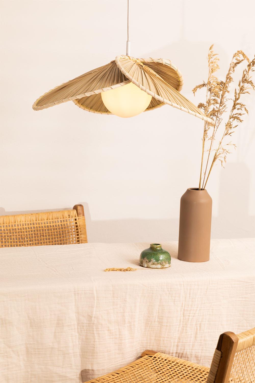Plafondlamp in Kokosblad (Ø53 cm) Kilda, galerij beeld 1