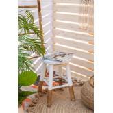 Lage kruk in Dipeado Bamboo Warpol, miniatuur afbeelding 6