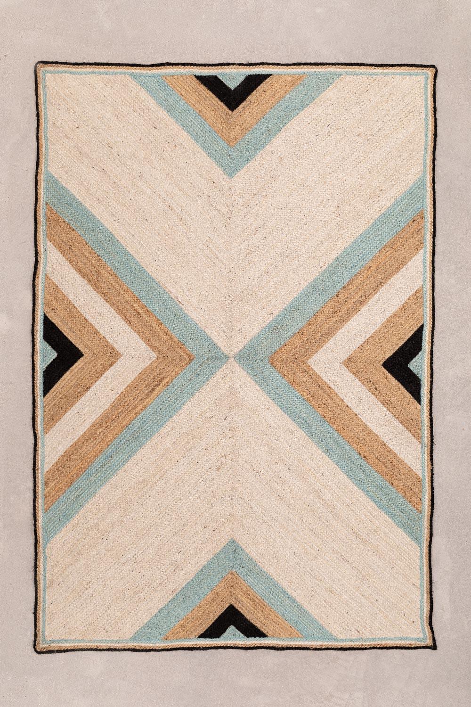 Vloerkleed van naturel jute (245x160 cm) Saina, galerij beeld 1