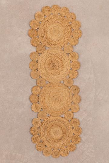 Vloerkleed van natuurlijk jute (180x60 cm) Otilie