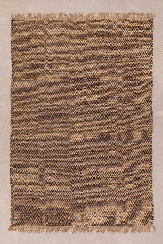 Vloerkleed van naturel jute (235x160 cm) Wuve, galerij beeld 1