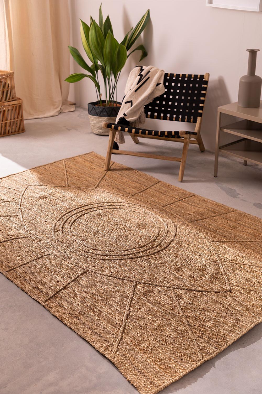 Gevlochten vloerkleed in natuurlijke jute (240x160 cm) Elaine, galerij beeld 1