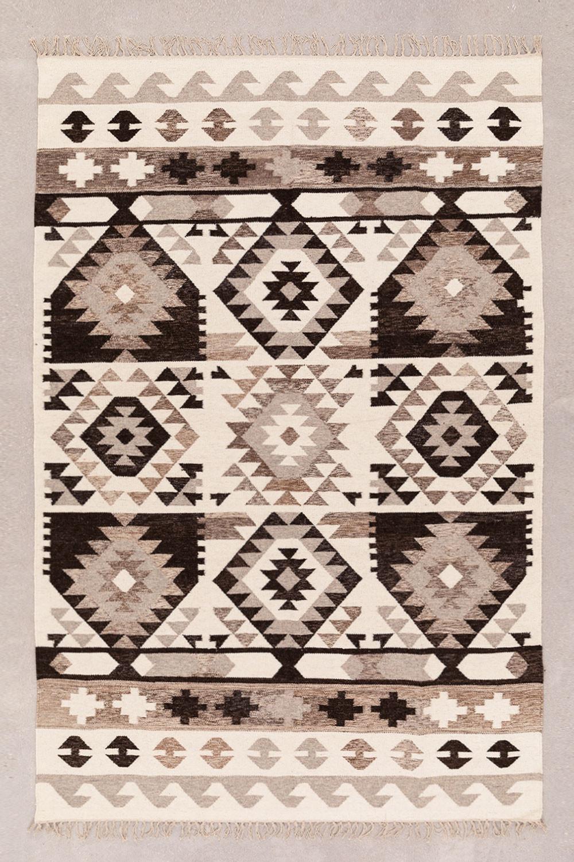 Tapijt van wol en katoen (250x165 cm) Logot, galerij beeld 1