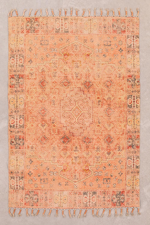 Vloerkleed van katoen Chenille (185x125 cm) Feli, galerij beeld 1