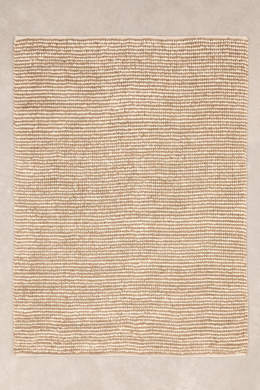 Vloerkleed van jute en wol (230x165 cm) Prixet, galerij beeld 1