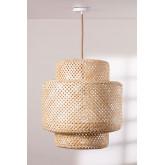 Plafondlamp in bamboe (Ø45 cm) Lexie naturel, miniatuur afbeelding 1