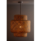Plafondlamp in bamboe (Ø45 cm) Lexie naturel, miniatuur afbeelding 2