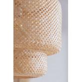 Plafondlamp in bamboe (Ø45 cm) Lexie naturel, miniatuur afbeelding 3