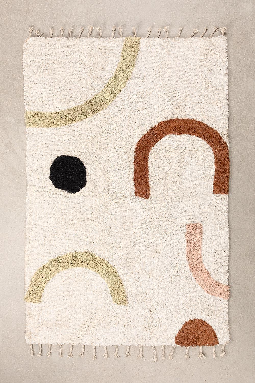 Katoenen vloerkleed (205x130 cm) Ebre, galerij beeld 1