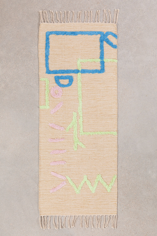 Katoenen vloerkleed (145x50 cm) Fania, galerij beeld 1