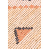 Gang tapijt in jute en stof (170x40 cm) Nuada, miniatuur afbeelding 4