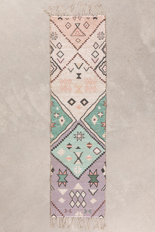 Gang tapijt in jute en stof (170x40 cm) Nuada, galerij beeld 1