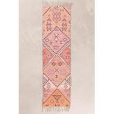 Gang tapijt in jute en stof (170x40 cm) Nuada, miniatuur afbeelding 1