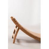 Kedas teakhouten opvouwbare ligstoel, miniatuur afbeelding 3