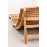 Kedas teakhouten opvouwbare ligstoel, miniatuur afbeelding 4