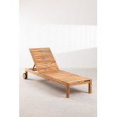 Kurni teakhouten ligstoel, miniatuur afbeelding 3